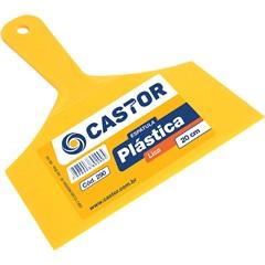 Espátula Lisa em Plástico 20cm Amarela - Castor