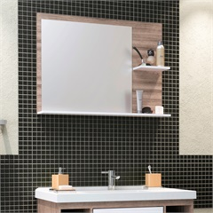 Espelheira Acácia Branco 80 Cm - Cozimax
