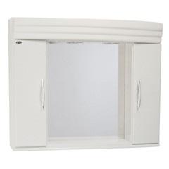 Espelheira Bari 100cm com Armário Branco - Corso