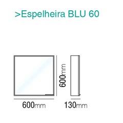 Espelheira Blu Branco 60cm - Bumi
