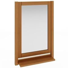Espelheira em Madeira Smile 67x46cm Jatobá - Mão e Formão