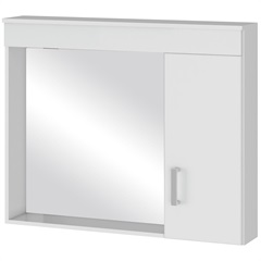Espelheira em Mdf Madri 80x60cm Branca - MGM Móveis