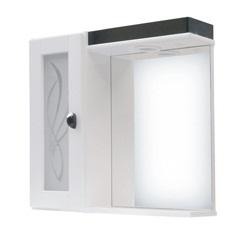 Espelheira Magnum com Luminária 60cm Preto - Darabas
