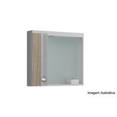 Espelheira Pop 650 Mdf Branco E Grigio          - Gaam