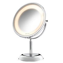 Espelho de Aumento de Mesa com Iluminação 110v Ref. 10288 - Crysbell