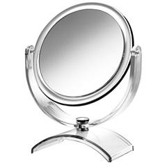 Espelho de Aumento de Mesa em Acrílico Cromado - Crysbell