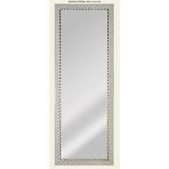 Espelho de Parede Retangular Safira 120 119x44cm Branco - Espelhos Leão