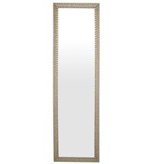 Espelho de Parede Retangular Safira 160 156x46cm Ectx Branco - Espelhos Leão