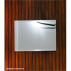 Espelho Faenza 80x60cm Bisote Prata  - Casanova