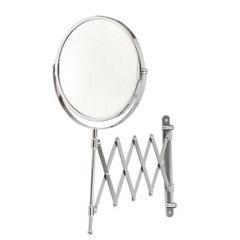 Espelho Redondo Dupla Face com Braço Sanfonado Cromado Ref. 1049f - Sicmol