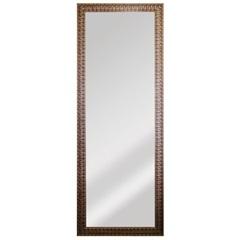 Espelho Retangular Moldura de Madeira Dourado 169x63cm - Espelhos Leão