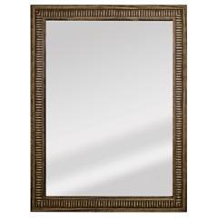 Espelho Retangular Moldura de Madeira Natural com Betume Cartagena 82x62cm - Espelhos Leão