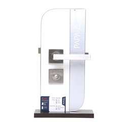 Fechadura Banheiro Mi610 Linea Cromo Acetinado - Papaiz