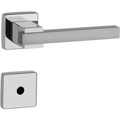Fechadura Dudu Banheiro 55mm Cromado Alumínio Acetinado Escovado - Lockwell