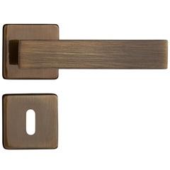 Fechadura Interna com Roseta Quadra Bronze Oxidado - Pado