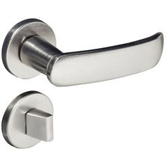 Fechadura para Banheiro com Roseta Madrid Cromo Acetinado - Pado