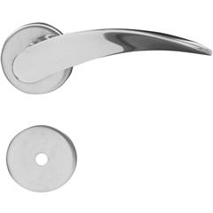 Fechadura para Banheiro com Roseta Onda Cromada - Aliança