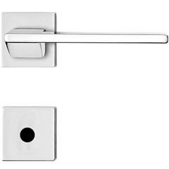 Fechadura para Banheiro com Roseta Redonda Design Squadro Cromada - Papaiz