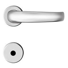 Fechadura para Banheiro com Roseta Redonda Standard Cromada - Papaiz