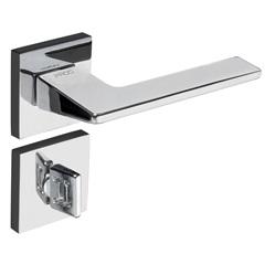 Fechadura para Banheiro com Roseta Sara Cromado - Pado