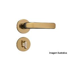 Fechadura Roseta Stilo Bronze Latonado de Banheiro a/a - MGM