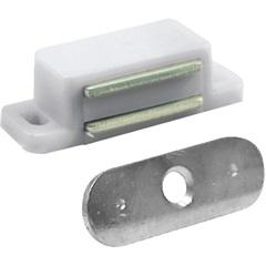 Fecho Magnético para Armário Branco 1 Peça - Bemfixa