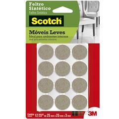 Feltro Sintético Redondo Pequeno Marrom - Scotch