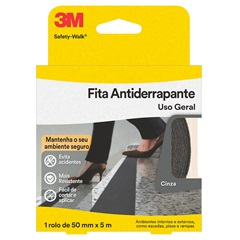Fita Antiderrapante Safety-Walk Cinza 50 Mm X 5 Metros Ref. H0001912478 - 3M