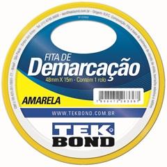 Fita de Demarcacao Amarela 48mmx15m - Tekbond