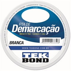 Fita de Demarcacao Branca 48mmx15m - Tekbond