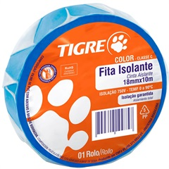 Fita Isolante Color Azul 10m - Tigre