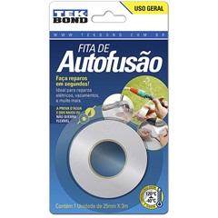 Fita Super Tape de Autofusão 25mm com 3m Transparente - Tekbond