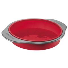 Forma de Silicone Redonda com Acabamento em Aço Carbono Vermelha - Sanremo