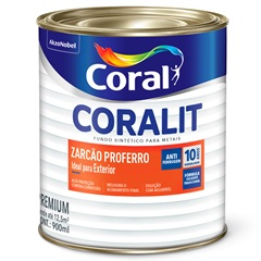 Fundo para Metais Zarcoral Anti-Ferrugem 900ml - Coral