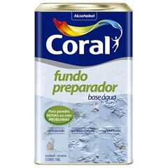 Fundo Preparador de Paredes À Base de Água 18 Litros - Coral