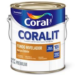 Fundo Sintético Nivelador Branco 3,6 Litros - Coral