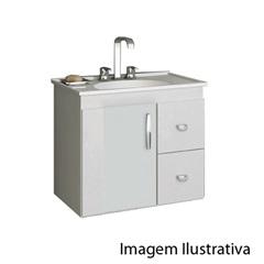 Gabinete 650 Vitra Suspenso Branco - Gaam