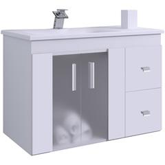Gabinete 800 Vitra Suspenso Branco/ Branco - Gaam