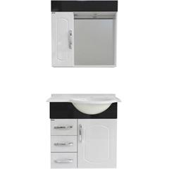 Gabinete Aspen 64cm Branco/Preto - Bonatto