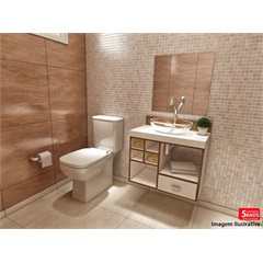 Gabinete Betria para Banheiro com Cuba em Resina E Espelho 50x50  - VTEC