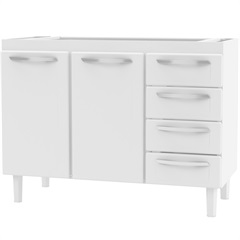 Gabinete  de Aço para Pia Branco 120 Cm   Ref.  Gq12m1 - Cozimax
