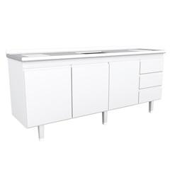 Gabinete de Cozinha para Pia de 2,00  Metros Branco - Bonatto