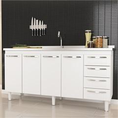 Gabinete em Aço para Pia de 200cm Quality Branco - Cozimax