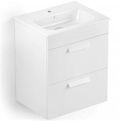 Gabinete Integrado com 2 Gavetas E Lavatório Debba 60 X 45 Cm Branco - Roca