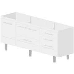 Gabinete Life para Pia 200cm Branco - Bonatto