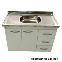 Gabinete Milano para Pia 100cm com Tampo - Bonatto