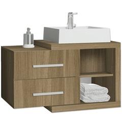 Gabinete para Banheiro 80 Cm Nobile Mdf Noce  - Casanova