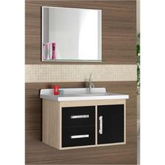 Gabinete para Banheiro Canopus 2 G Preto 58 Cm Ref.: 1731  - Cerocha