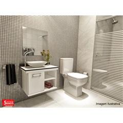 Gabinete para Banheiro com Cuba em Resina E Espelho 50x50 Nihal - VTEC