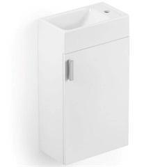 Gabinete para Banheiro em Mdf com Cuba Petit 22x40cm Branco